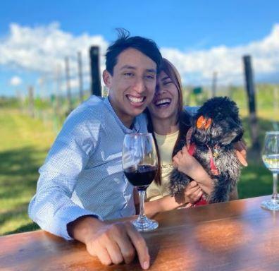 Egan Bernal y su novia