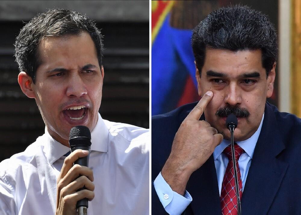 326467_BLU Radio, Guaidó y Maduro / Foto: AFP