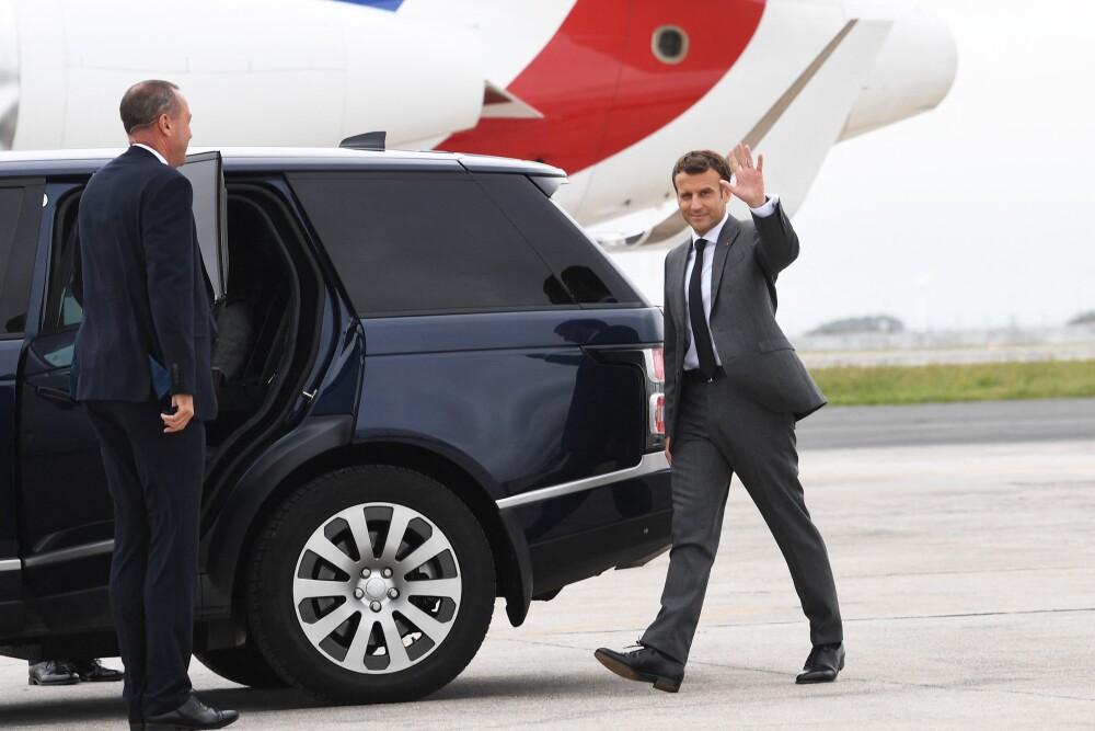 BRITAIN-FRANCE-G7-MACRON