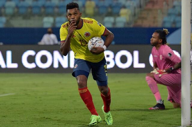 Miguel Ángel Borja, en Colombia contra Perú