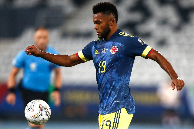 Miguel Ángel Borja, en Brasil contra Colombia