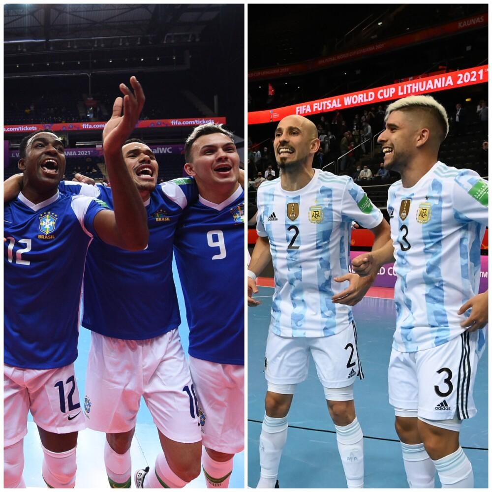 Brasil vs. Argentina, enfrentados en la semifinal del Mundial de Fútsal 2021..jpg