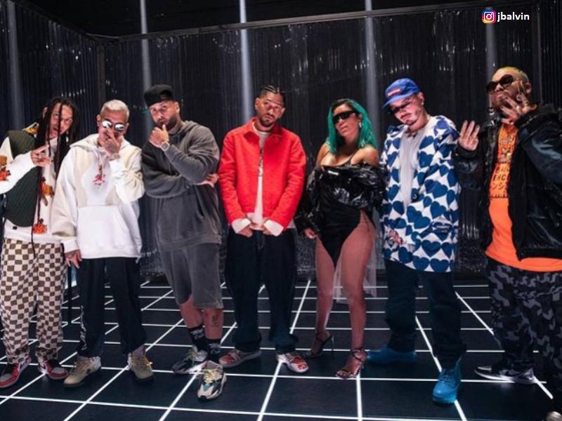 J Balvin, Karol G, Nicky Jam, memes de Poblado remix.