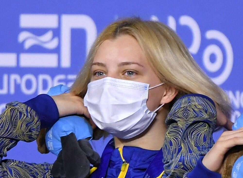 Sofiia Lyskun usó un traje de baño de ositos en los Juegos Olímpicos