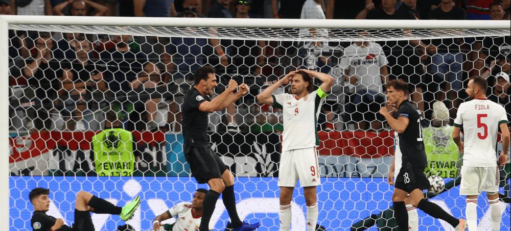 Alemania contra Hungría.