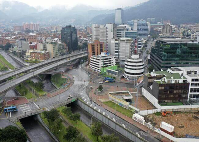 Cuarentena en Bogotá. Foto AFP