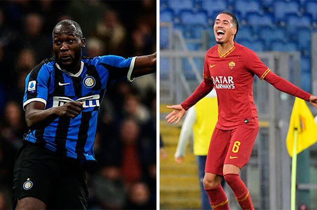 AFP: Romelu Lukaku (Inter de Milán) y Chris Smalling (Roma)