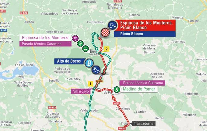 Así será la etapa 3 de la Vuelta a España 2021.