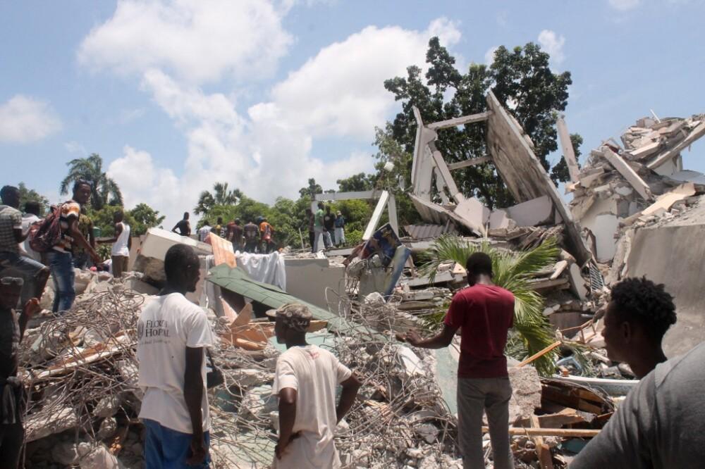 Devastación del terremoto en Haití