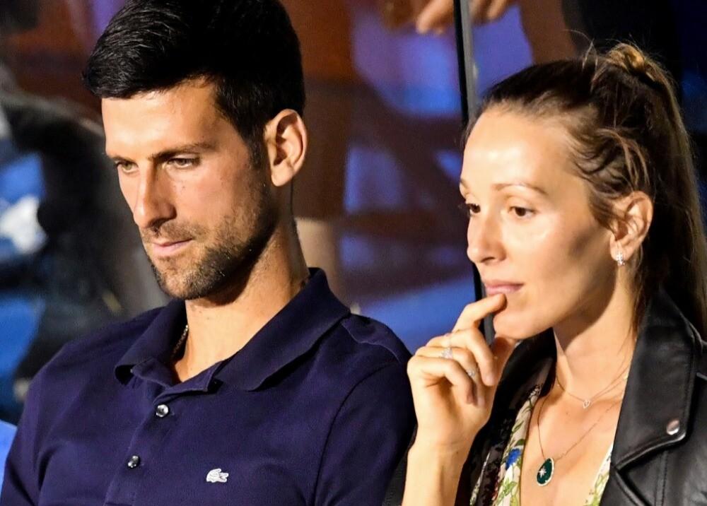 369651_Novak y Jelena Djokovic / Foto: AFP