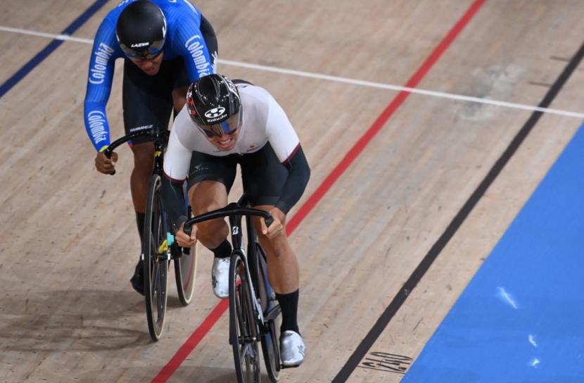 Kevin Quintero estuvo en la prueba de velocidad del ciclismo de pista de los Juegos Olímpicos Tokio 2020.