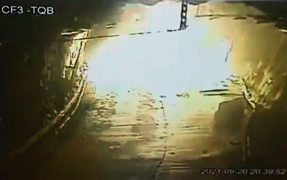 Explosión en túnel Quebrada Blanca en vía al Llano