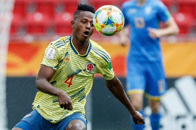 Anderson Arroyo, con la Selección Colombia Sub-20