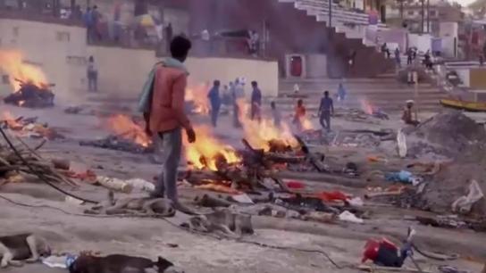 crematorios al aire libre en India