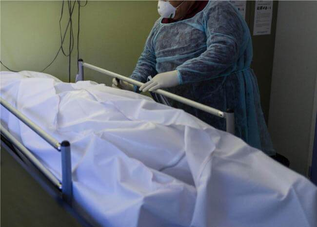 365020_Fallecido por coronavirus // Foto: referencia AFP