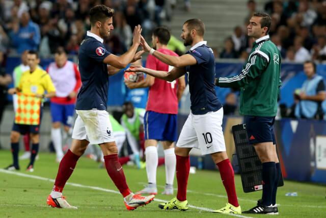 333845_Karim Benzema y oliver Giroud.
