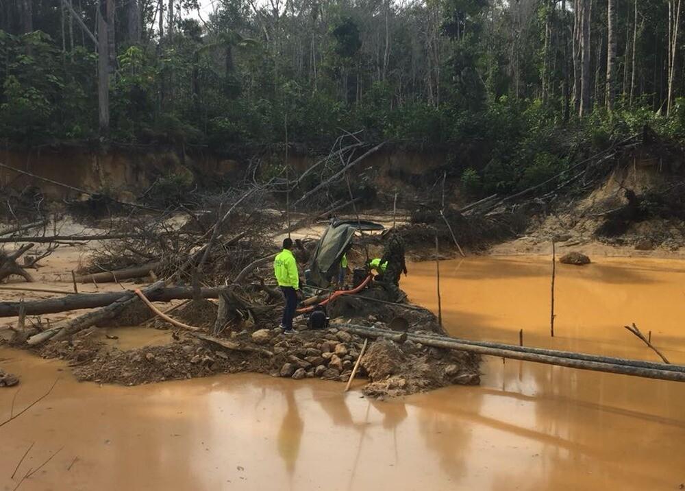 Operativos contra la minería ilegal / Foto: Cortesía Policía Nacional