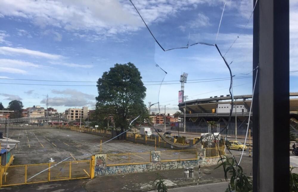 Vandalismo en inmediaciones de El Campín tras derrota de Millonarios