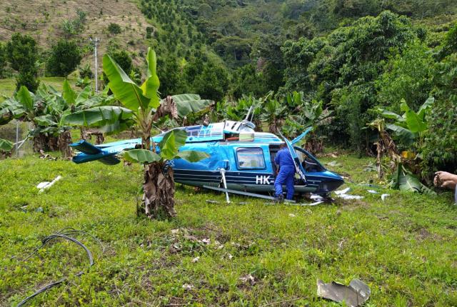 accidente de helicóptero en Cañasgordas, Antioquia.