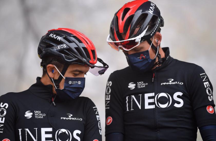 Richard Carapaz y Chris Froome, ciclistas del Ineos.