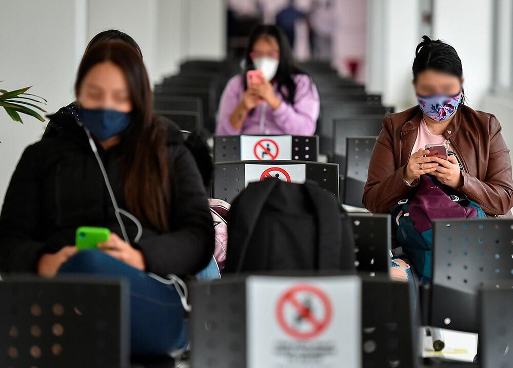 Distanciamiento social // Foto: AFP