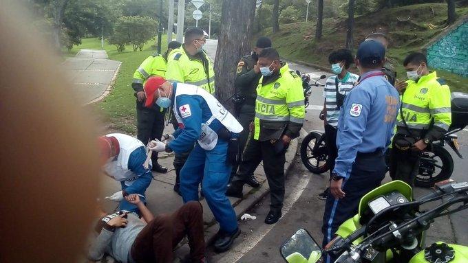 Lesionados en manifestaciones y atendidos por Cruz Roja.jpg