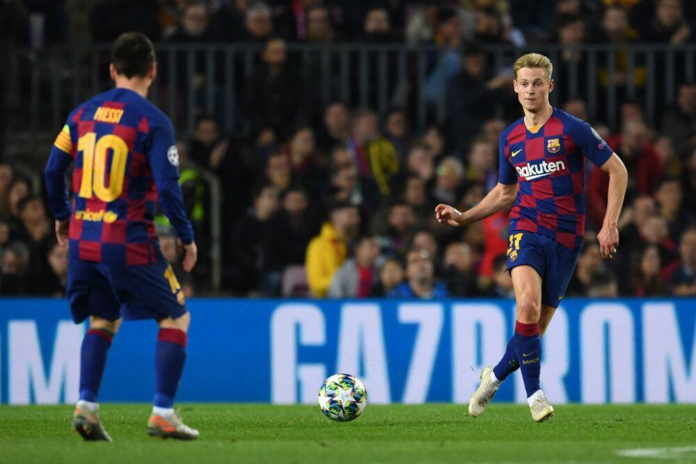 Frenkie de Jong y Lionel Messi, Barcelona