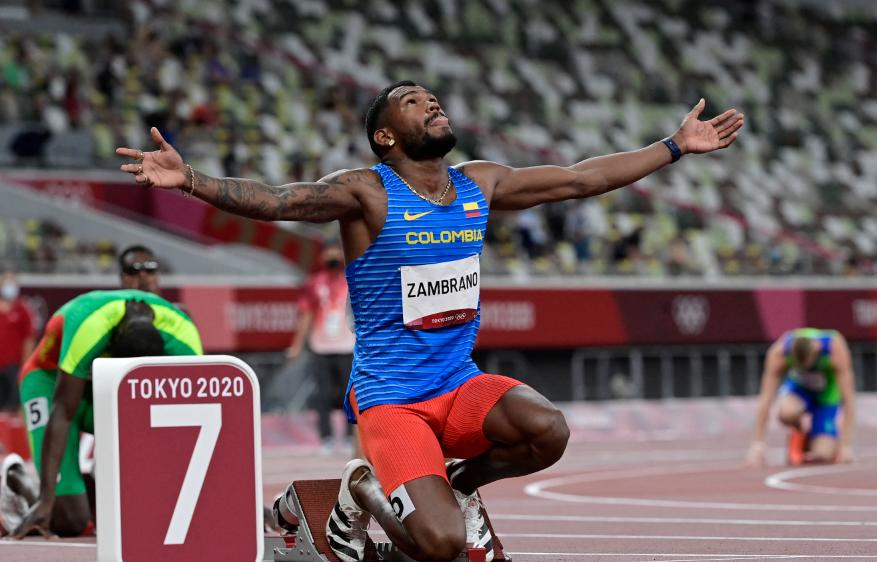 Anthony Zambrano clasificó a la final de los 400 metros de los Juegos Olímpicos Tokio 2020.