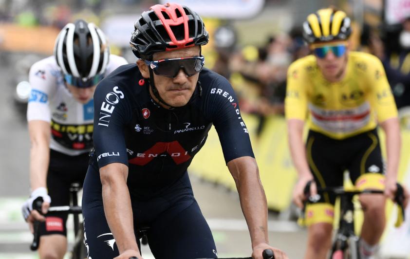 Richard Carapaz es tercero en la general del Tour de Francia.
