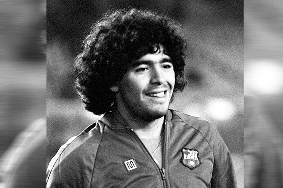 Diego Maradona con Barcelona