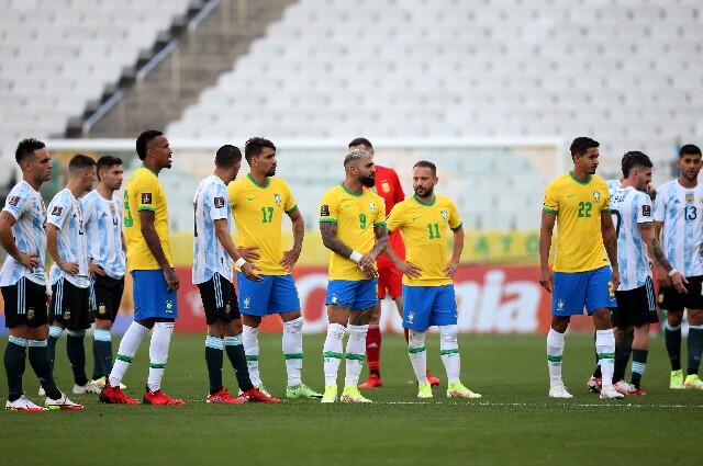 Brasil frente a Argentina, por Eliminatorias Sudamericanas