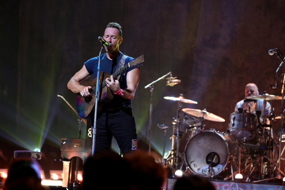 Coldplay Performs Live At The Apollo Theater For SiriusXM And Pandora's Small Stage Series In Harlem, NY