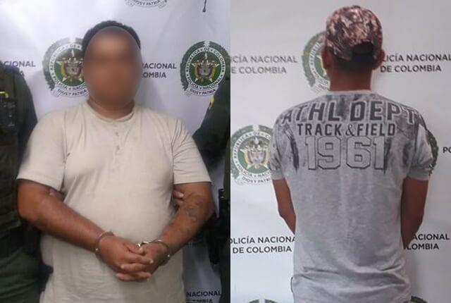 Capturados por delitos sexuales contra menores de edad / Cortesía Policía Meval.