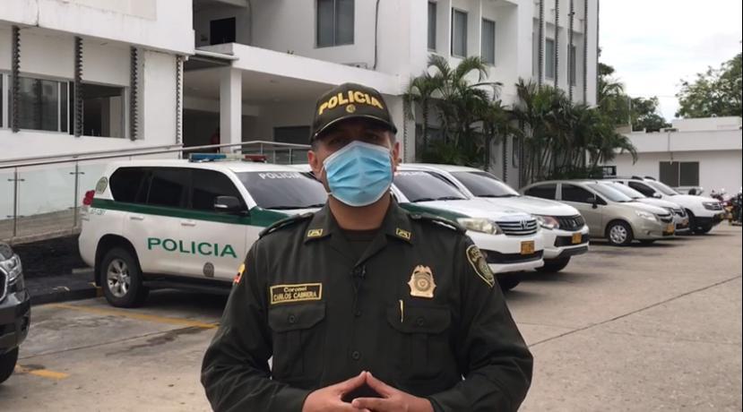 Coronel Carlos Cabrera, Subcomandante de la Policía en Barranquilla