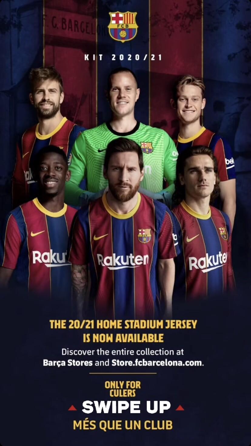 Nueva camiseta del Barcelona