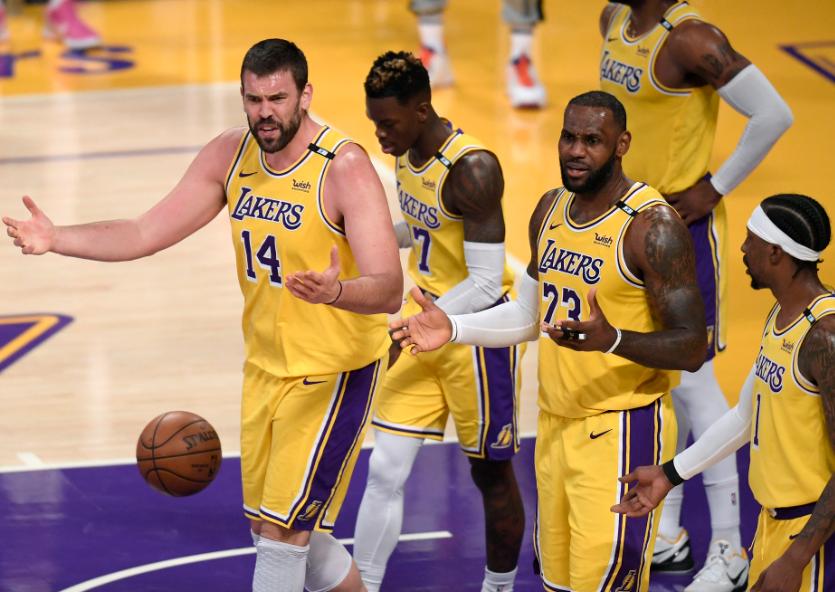 Los Lakers fueron eliminados en los playoff de la NBA.