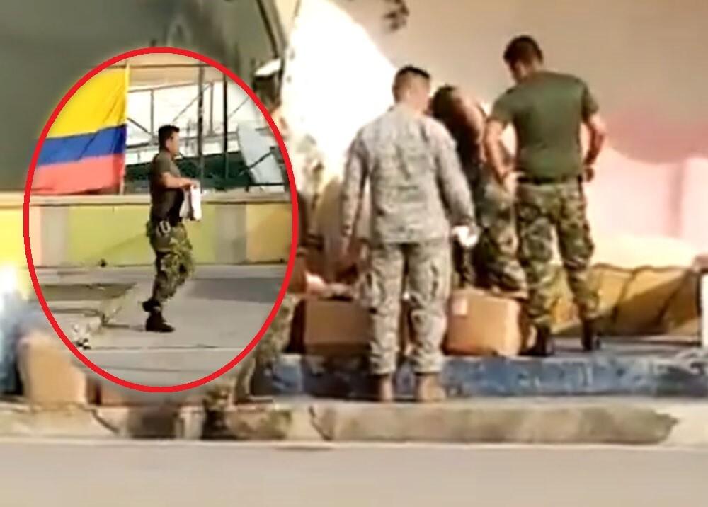 militares se llevan ayudas para damnificados en providencia.jpg