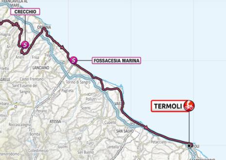 Así será la etapa 7 del Giro de Italia 2021.