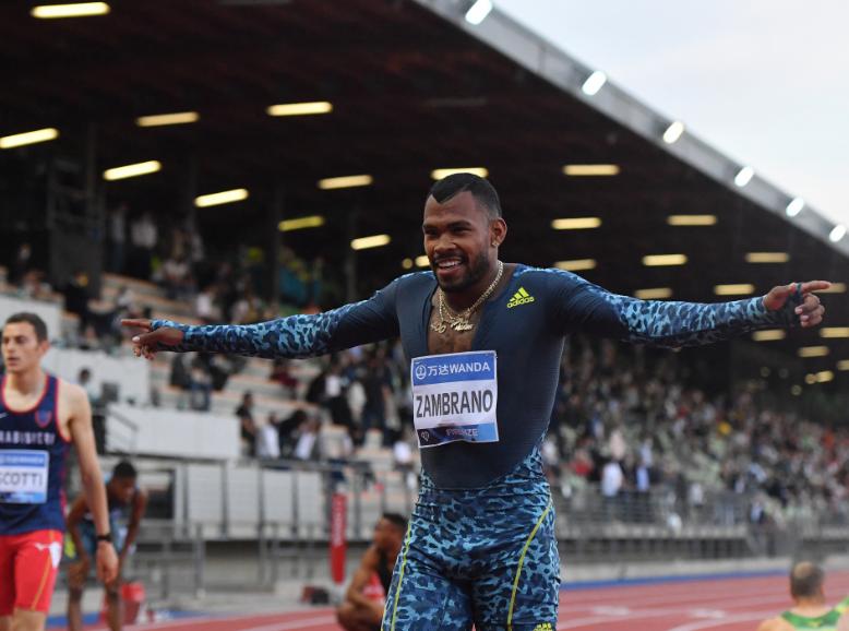 Anthony Zambrano registró 44.76 segundos en los 400 metros.