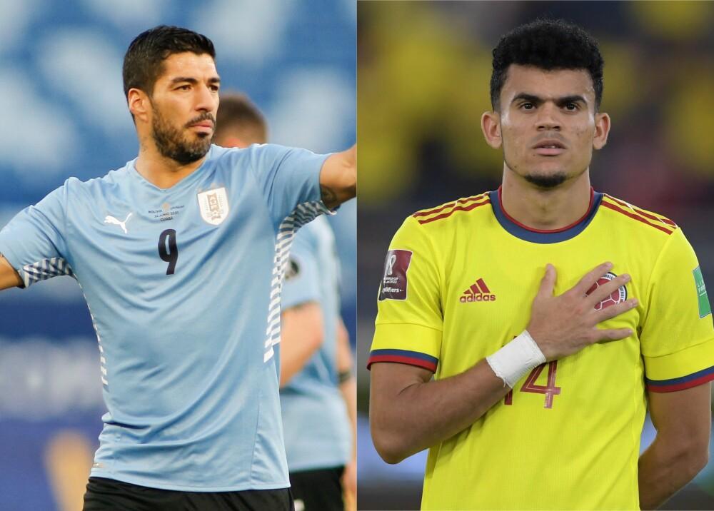 Selecciones de Uruguay y Colombia Foto AFP (1).jpg