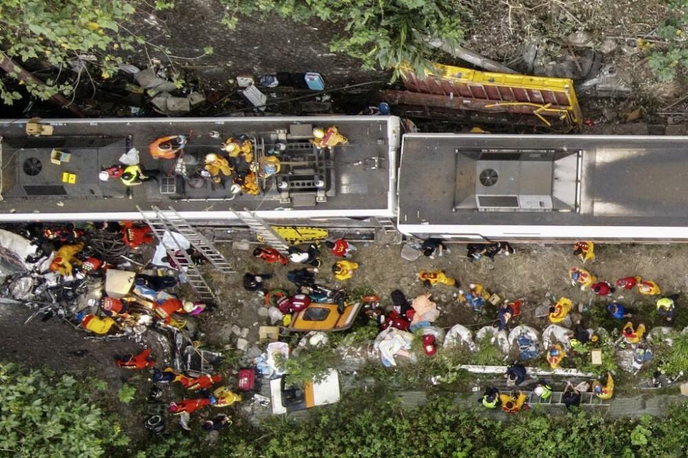 Accidente de tren en Taiwán. Foto AFP