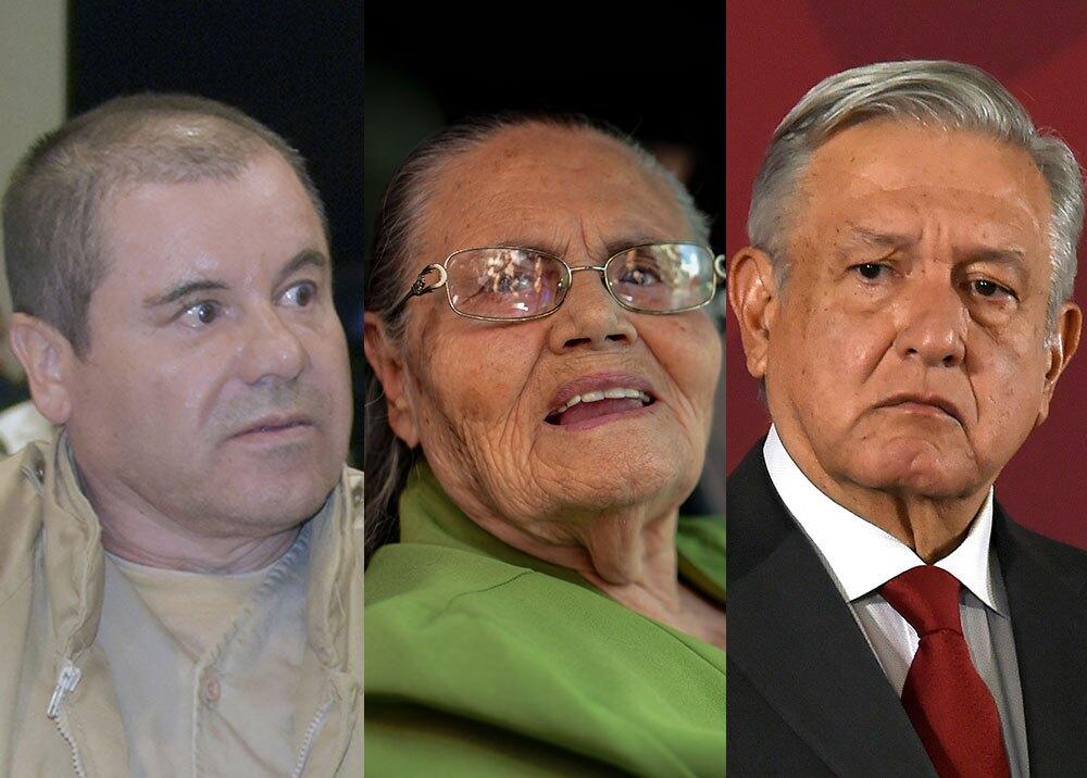 359193_Joaquín 'El Chapo' Guzmán, Consuelo Loera y Andrés Manuel López Obrador // Fotos: AFP
