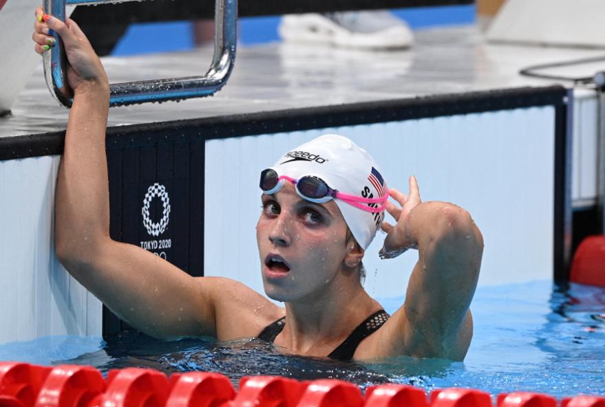 Regan Smith hizo 57,86 segundos en los 100 metros espalda de la natación de los Juegos Olímpicos.