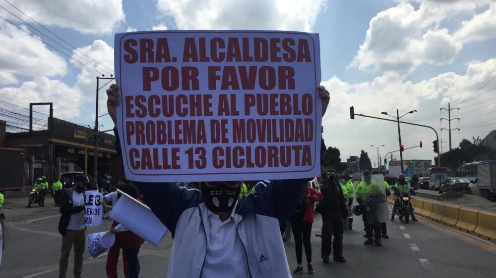 Protestas bicicarril calle 13
