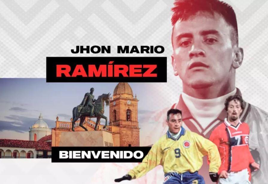 Anuncio de llegada de Jhon Mario Ramírez a Patriotas. Foto Patriotas Boyacá.JPG