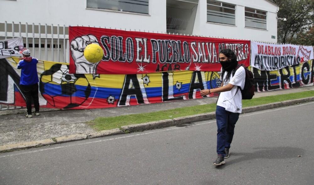 Protestas en contra de la copa américa en Colombia