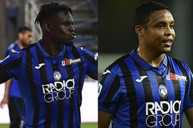 Duván Zapata y Luis Fernando Muriel, jugadores del Atalanta