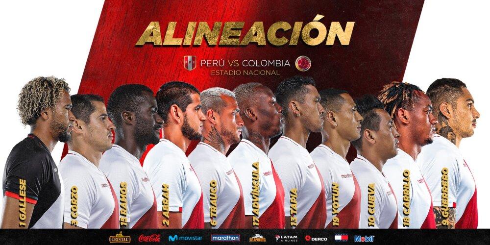 Alineación titular de Perú para enfrentar a Colombia.jfif
