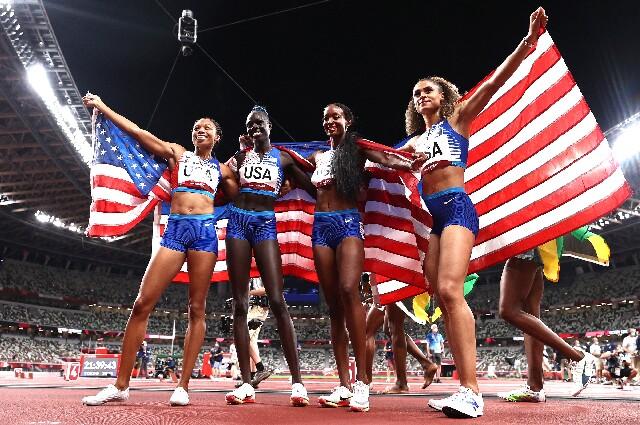 Estados Unidos, en los 4X400 metros de los Juegos Olímpicos