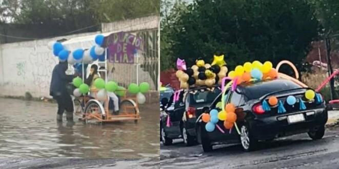Hombre decoró su triciclo para graduación de su hijo
